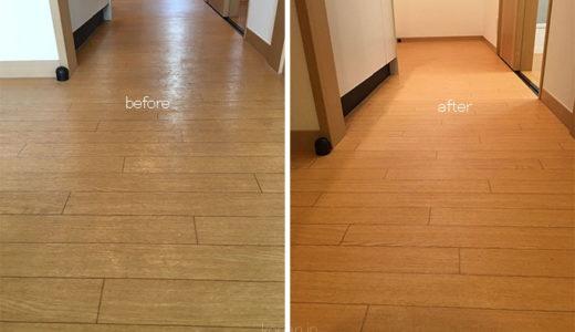 床の剥離(ハクリ)洗浄 東京都大田区 入居前クリーニング 床(フローリング)のお掃除