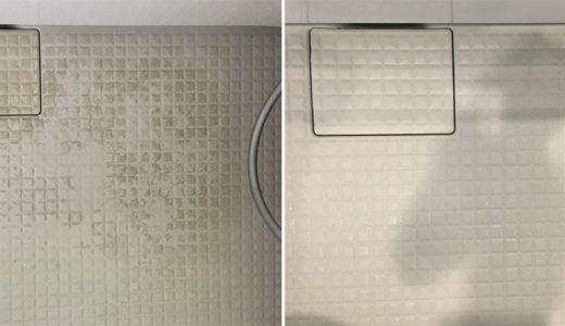お風呂クリーニング 浴室床の黒ずみ除去 茨城県つくば市ハウスクリーニング
