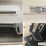 冷房や暖房の効率アップエアコンクリーニング 三菱ルームエアコン(MITSUBISHI)2006年製 MSZ-J28T-W 東京都品川区