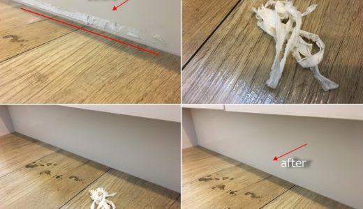 テープ剥がしと窓サッシの掃除 入居前の再生クリーニング 東京都港区 現状回復