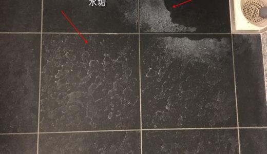お風呂クリーニング 浴室の床水垢落とし 高級マンション 東京都港区